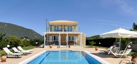 Villa Calypso korfu exklusiv Ferienhaus Villa Pool Halikounas Meerblick